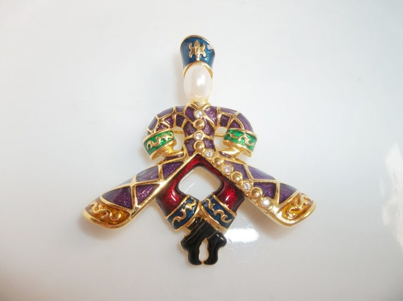 Joan Rivers Cossack Dancer Brooch