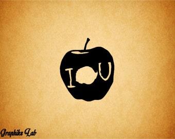 Sherlock IOU Apple Decal Sherlock Holmes Vinyl Decal