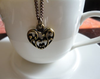 Steam-punk heart necklace