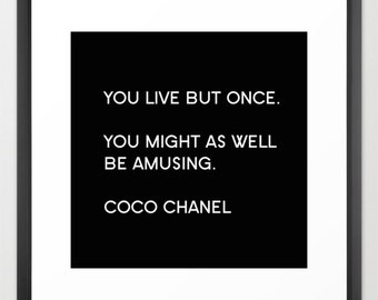 Chanel Print, Square Black and White Prints, Chanel Poster, Fashion Wall Art, Fashion Print, Chanel Canvas, Coco Chanel, Gift for Bestfriend