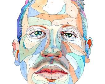 Macklemore 8.5x11 Portrait Art Print by Sean Katsenhakeron Davidson