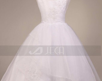 Princess Style Tiered Organza Flower Girl Dress Available in Child Size 0 - Size 14 F233