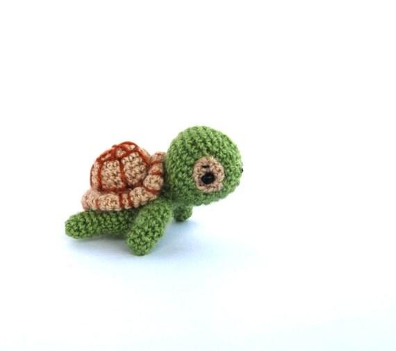 mini turtle, amigurumi miniature turtle, little stuffed tiny turtle ...