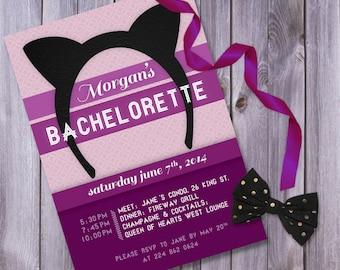 Cat, Bachelorette invitation, printable bachelorette, bachelorette invites, hen party invite, bachelorette invitation, bachlorette printable