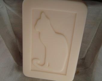 Pumpkin Pie Goat's Milk Soap w/Cat Design (4oz)