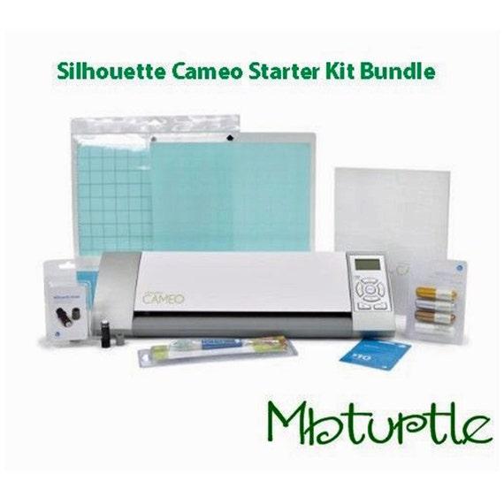 silhouette cameo die cutting machine vinyl starter kit bundle