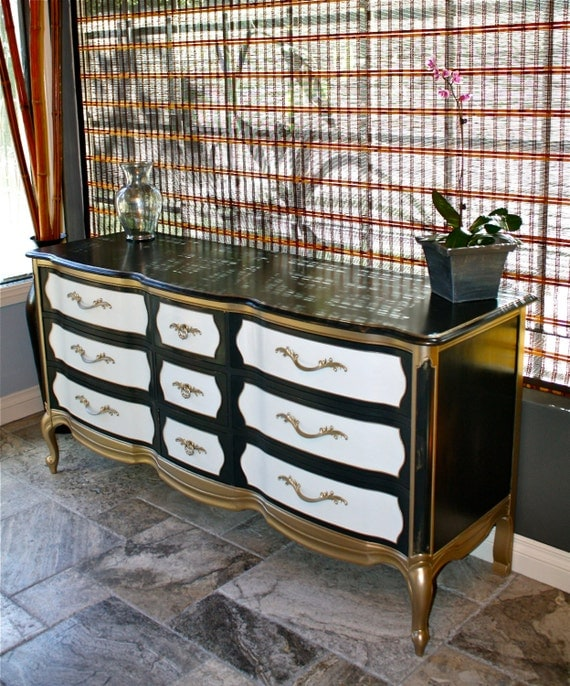 Vintage Thomasville French Provincial 9 Drawer Dresser Custom