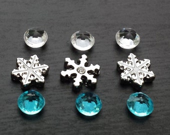Floating Charm Set for Floating Lockets-Christmas Charms-Gift Idea