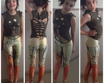 French ladies leggings by Funkyeggzis - Sizes s, m, l, xl