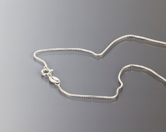 1.0 mm Sterling silver box chain, 16 & 18 inches