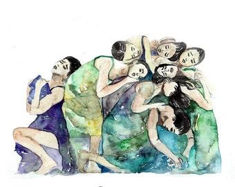 Pina watercolor print