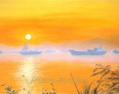"Original Pastel drawing ""Sunset"""