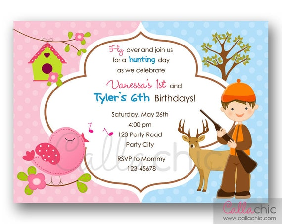 ... Twin / Joint / Split / Dual Theme / Sibling Birthday Party - Boy Girl