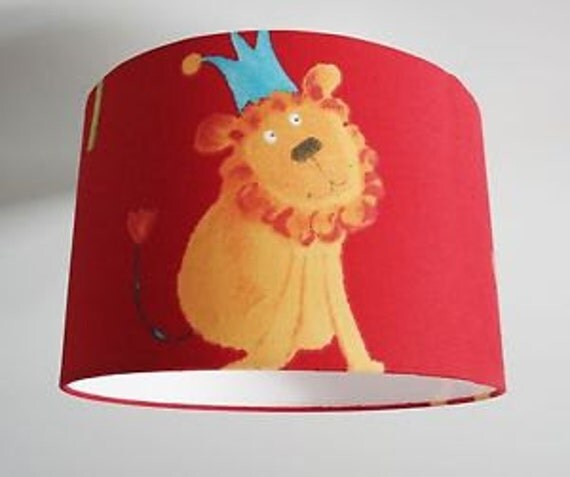 Jungle lampshade for ceiling or bedside lights in choice of colours