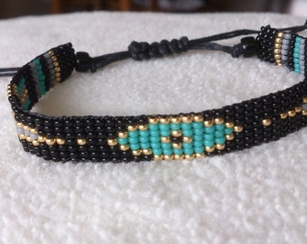 "Loom beaded bracelet ""EYE"""