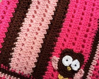 Crocheted Owl Blanket