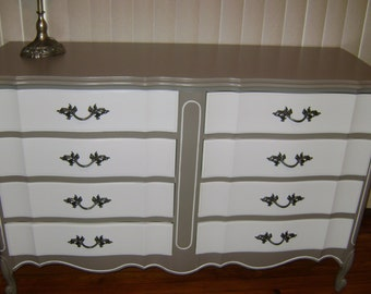 "Example 8 Drawer French Dresser French Provincial Shabby Chic ""Ready to be customized just for you"""