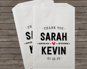Wedding Favor Bags, Candy Buffet Bags, Candy Bar Bags, Favor Bags, Personalized Wedding Favor Bags, Treat Bags, Custom Favor Bags, Kraft 089