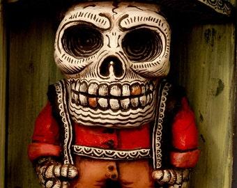 Beautiful Mortal Dia De Los Muertos Skeleton Artist PRINT 365 Reproduction