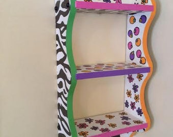 One of a kind hand painted bookcase