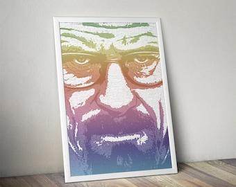 BREAKING BAD Walter White Heisenberg  Printable Wall Picture Poster Postcard Art Digital Instant DOWNLOAD Print Jpeg Pdf