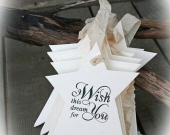 25  to 100 Wishing Tree Tags- Wedding Wish Tree // Bridal Shower Wishing Tree // Bridal Shower// Ivory Cardstock- I wish this dream for you