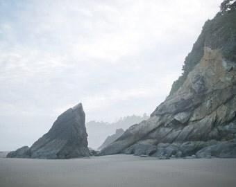 Oregon Coast Beach Hug Point Landscape Ocean Pacific Northwest Photo Photography 8x10 Print