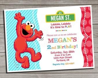 Sesame Street Invitation | Elmo Birthday Invitation | Elmo Invitation | Elmo Party Invite | Elmo Party
