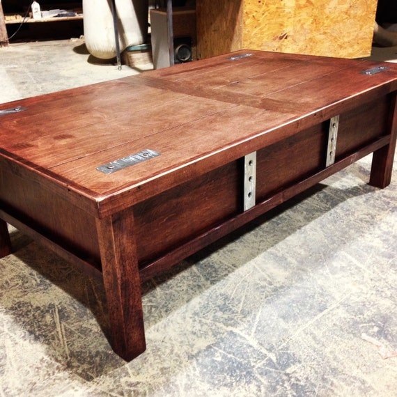 Https Www Etsy Com Listing 176827700 Coffee Table With Hidden Gun Storage
