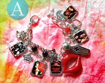 rocky horror picture show Tim Curry charm bracelet necklace earrings