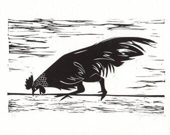 Peck 2010 - Linoprint, original artwork