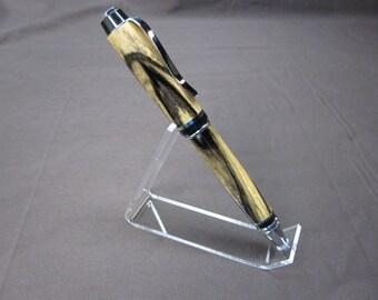 Custom Cigar Pen Black and White Ebony