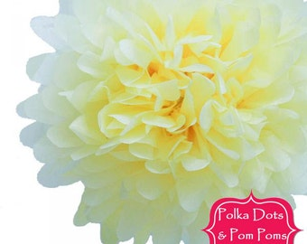 1 x 35cm LEMON Tissue Paper POM POM / Pompom / Paper Flower / Birthday Party Decoration Ideas and Supplies / Wedding / Baby Shower