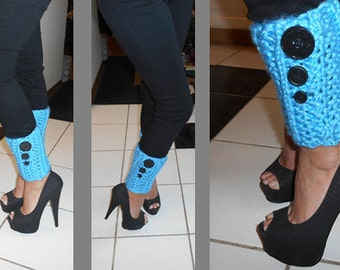 Light Blue Ankle Toppers - size small