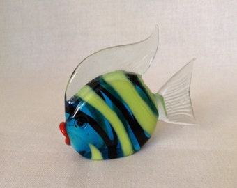 "Blown Glass Fish, 3.0"" x .5"""