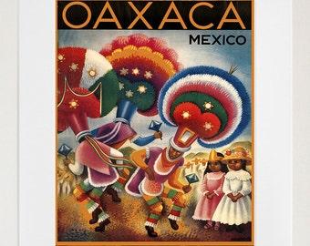 Mexico Art Print Oaxaca Travel Poster Mexican Home Decor Zt287