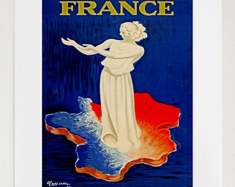 France Travel Poster French Decor Wall Art Print (ZT253)