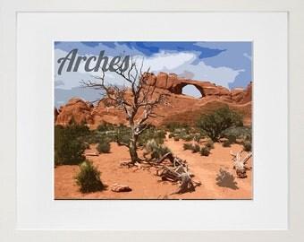 Arches National Park Poster Travel Art Print Home Decor (ZB6)