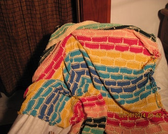 brick patterned baby blanket
