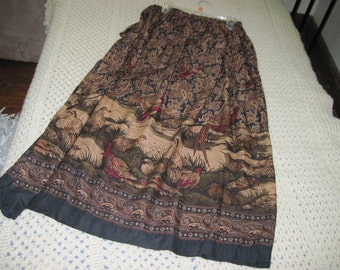 novelty paisely print skirt