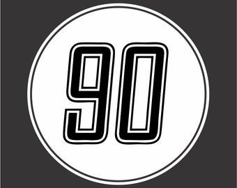 BMW nine T sticker decal 90