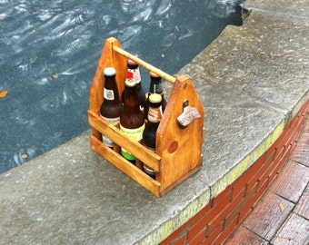 Wooden Six Pack Carrier