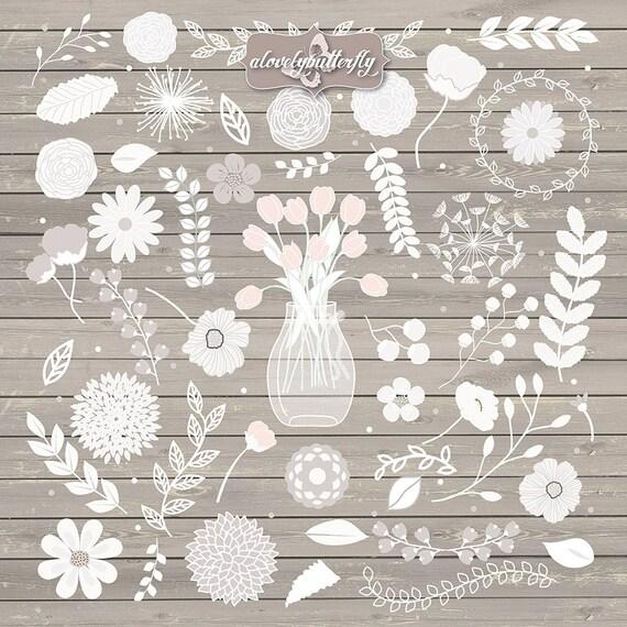 Rustico matrimonio fiori Clipart natura lavagna fiore