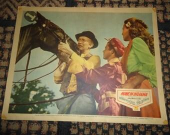 Original 1944 Home In Indiana Movie Poster Lobby Card Walter Brennan