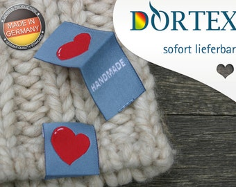 "10 ready label ""Handmade"" - DORTEX Flexinera-Web labels made of polyester yarn"