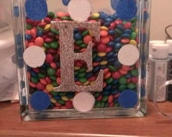 Candy Holder with Initial