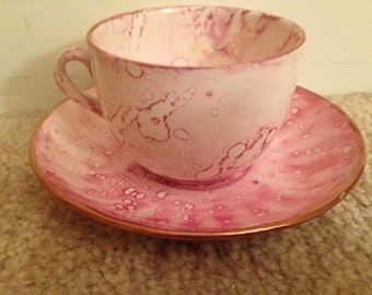 Vintage- Staffordshire England Tea Cup and Saucer