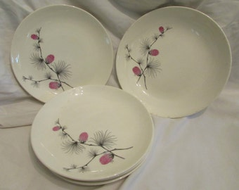 Canonsburg Wild Clover or Pink Thistle Pattern - Set of Five Pieces