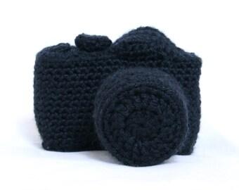 Crochet DSLR camera Nikon/Canon plushie/amigurumi