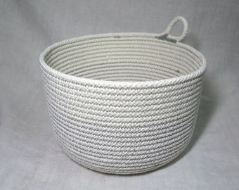"Medium Cotton Cord Basket ""Made to Order"""